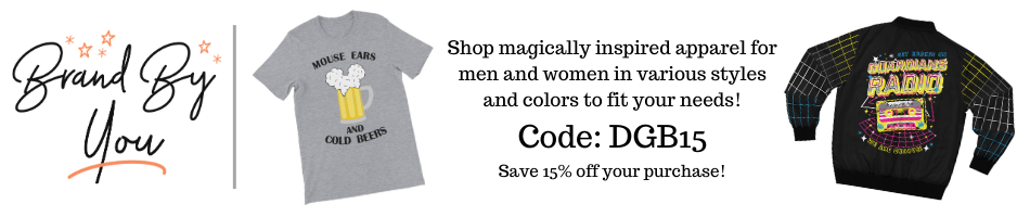 Save 15% off at this park inspired apparel shop Brand By You! Catering to both men and women with designs for many aspects of your Disney lifestyle.